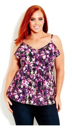 Plus Size Orchid Strappy Top - City Chic