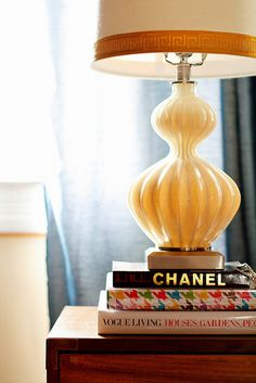 That lamp! Love the trim.  photo House of Fifty Mag, via Flickr