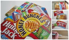 31 Things You Can Make Out Of Cereal Boxes: some of these are way too cool Not to try!!!