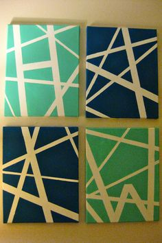 How to make simple DIY art using painter's tape. http://downshannonlane.com