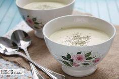 Sopa fría de manzana y puerro de Directo al paladar (con Thermomix)