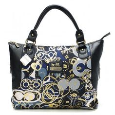Coach Poppy In Monogram Large Black Totes BYO  Regular Price: $69.99