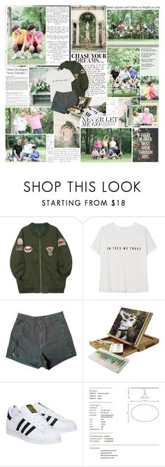 """""""3rd years of BTS"""" by sunshine-moonlight ❤ liked on Polyvore featuring Twenty, MANGO, American Apparel, EASEL, adidas, Nuevo, bts and 3yearswithbts"""
