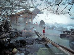 Takaragawa Onsen Rotenburo 宝川温泉 露天風呂 | by John G. Cramer III #Hot_Springs #Onsen
