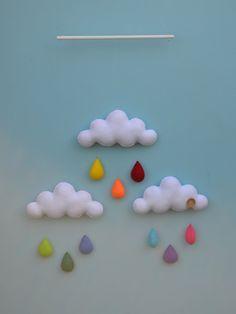 Móviles de la nube del arco iris. por MilbotandChooky en Etsy