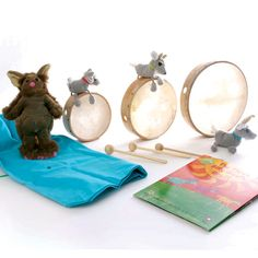 """""""The Three Billy Goats Gruff"""" Music Sack...can also """"slap"""" wooden blocks to make the """"trip trap"""" sound"""