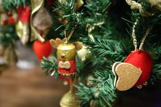 Viaggio Di Gusto: Un vestito oro e rosso per il primo albero di nata...