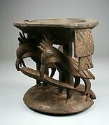 Agere Ifa: 19th-20th century intricately carved from wood by the Yoruba people of present day Nigeria.