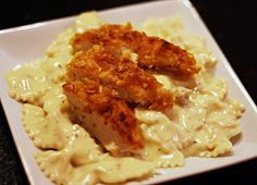 What's for dinner? Crunchy Chicken with Creamy Italian Sauce & Bowtie Pasta perfect for busy weeknights.