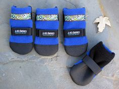dog booties so they dont get salt or snow between the pads on thier feet! too cool