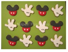 Hand and Mickey cookies