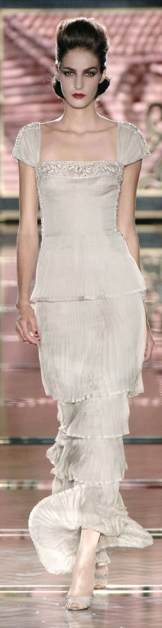 Valentino ~ Cap Sleeve Gown, Soft Pale Grey, Just Stunning!
