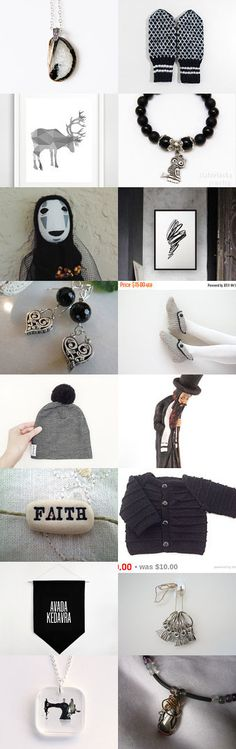 Black and Grey by Marlena Rakoczy on Etsy--Pinned with TreasuryPin.com