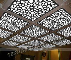 tavan aydınlatma panosu-lazer kesim-selçuklu modeli kod: TA-11