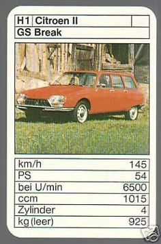 Citroën GS break Top Trumps, Hot Wheels, Vintage Cars, Graphic Art, Automobile, Youth, Novels, Posters, French