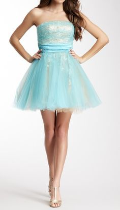 Mint tulle party dress