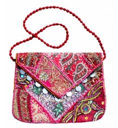 INDIAN CROSSBODY ART COTTON Patch Sling Bags Elephant BIRTHDAY PRESENT GIFT Idea