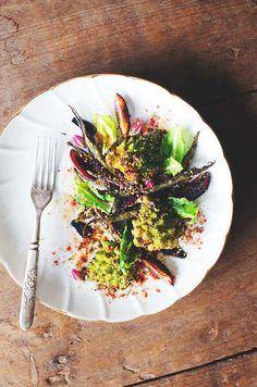 Spiced romanesco cauliflower and okra