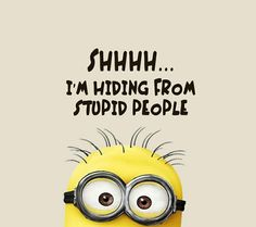 """These Minion Quotes are so funny and hilarious and able to make you laugh.If you read out these """"Best Minion Quote Of The Day"""" suddenly you will start laughing . Best Minion Quote Of The Day Best Minion Quote Of The Day Best Minion Quote Of The Day Best… Stupid Love Quotes, Crazy Stupid Love, Cute Quotes, Funny Quotes, Humor Quotes, Quotes Pics, Ecards Humor, Quotes Images, Minion Pictures"""