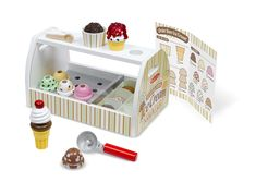 Scoop & Serve Ice Cream Counter   Playsets & Kitchens   Melissa and Doug