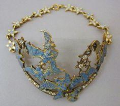 Lalique 1898-1899 'Bat' Bracelet: gold/ opals/ diamonds/ enamel