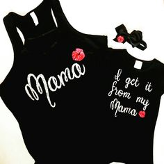 Mommy and me outfits, matching, custom tank, custom tshirt, toddler tee, personalized gift, baby shower gift, newborn custom gift, mom to be by TheGlitterButterfly on Etsy