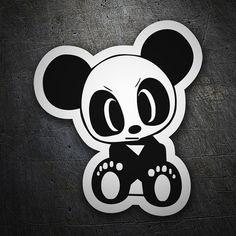 Pegatinas: Oso panda enfadado #coche #pegatina #sticker