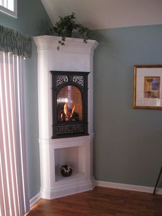 Newest Photos small Corner Fireplace Suggestions Corner fireplaces supply range benefits to folks having meeting spaces wonderful and also small. Using underused areas, Small Gas Fireplace, Small Electric Fireplace, Portable Fireplace, Propane Fireplace Indoor, Kitchen Fireplaces, Indoor Fireplaces, Gas Fireplaces, Bedroom Fireplace, Diy Fireplace