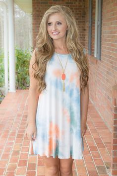 Hey Sweetie! Or should we say sugar bear? honey? Someone like you deserves a name that is as sweet as candy! You are always kind and caring to others, so why don't you treat yo'self to this cute tunic?! Tie-dye tunic is a flowy cut, runs large. Made in the USA. It is made of 95% Rayon, 5% Spandex. Sarah is wearing a size small.