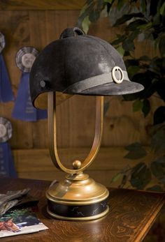 Riding Helmet Table Lamp