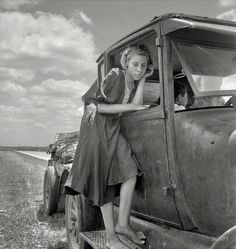 "June 1937. ""Child of Texas migrant family who follow the cotton crop from Corpus Christi to the Panhandle."" Photo by Dorothea Lange. Shorpy Historical Photo Archive"