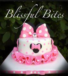 Mini Mouse Birthday Cake  Blissful Bites Turlock Ca  sweetthings73@Gmail.com  Fan page on Facebook  www.Facebook.com/BlissfulBitesBakers