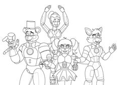 Sister Drawings F Naf Location Sketch Coloring Page Fnaf Coloring Pages, Adult Coloring, Coloring Books, Five Nights At Freddy's, Learn To Draw Anime, Fnaf Book, Fnaf 4, Pokemon Advanced, Freddy 's