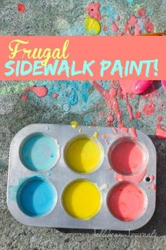 Frugal Sidewalk Paint for Kids | Jellibeanjournals.com