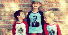 Wee Rascals- Cute tees for kids with historical figures!