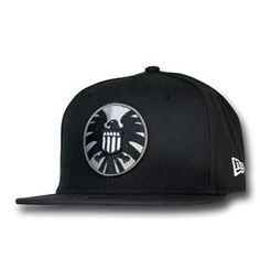 6864bdadb3a S.H.I.E.L.D. Symbol Black 59Fifty Cap. New Era FittedSamuel JacksonCaps Hats Captain MarvelSnapback ...