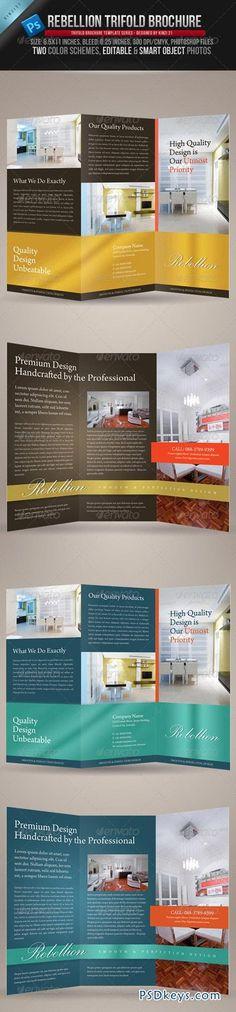 Rebellion Trifold Brochure PSD Template 240713