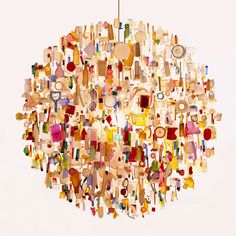 Tide Chandelier, made from debris that Stuart Haygarth has collected over many years from the Kent coastline.