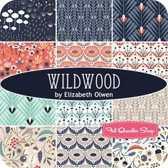 Wildwood Fat Quarter Bundle<BR>Elizabeth Olwen for Cloud9 Fabrics