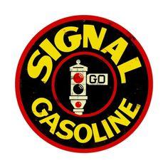 Gas & Oil Service Station Signs Large - Vic's 66 - Gas Pump Parts, Globes and Memorabilia Old Gas Pumps, Vintage Gas Pumps, Oil Service, Vintage Metal Signs, Vintage Iron, Old Gas Stations, Garage Art, Garage Ideas, Porcelain Signs