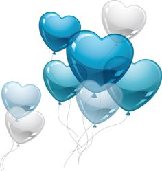 Love blue balloons PNG and Clipart Happy Birthday Video, Happy Birthday Wishes Cards, Happy Birthday Images, Birthday Pictures, Birthday Greetings, Birthday Cards, Balloon Clipart, 2 Clipart, Love Balloon