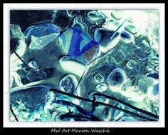 Stones, Steine, Fluss, Wasser, Eis, blue, Foto, Fotobearbeitung, MW Art  Marion Waschk,  Fotografie,