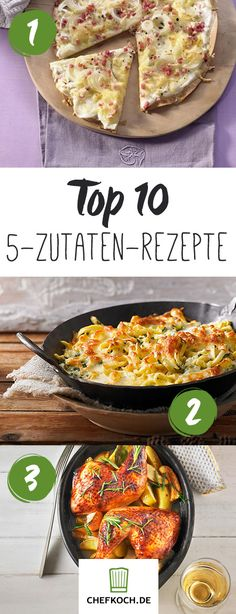 Top 10: Rezepte mit 5 Zutaten