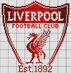Liverpool FC Basics: This piece measures 86x88 squares. I find it best to cut the fabric at least three inches larger than the design, and at least five inches larger if you're using a Q-Snap frame. Design size on: 14 ct: 6 inches wide and 6 1/4 inches hi