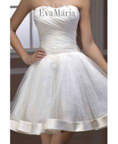 Krátke svadobné šaty na objednávku šité na mieru na predaj - Salonevamaria.sk