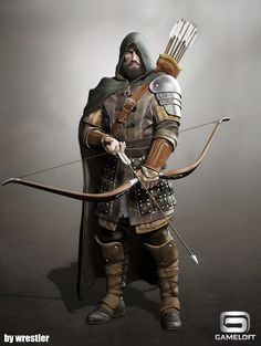 ArtStation - archer longbow render, Georgi Georgiev