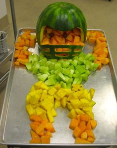 Awesome fruit football player created by the creative Child Nutrition professionals in Provo, Utah.