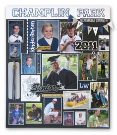 Graduation Memory Board Ideas High school party creations from my heart Graduation Open Houses, 8th Grade Graduation, High School Graduation, Graduation Celebration, Graduation Party Decor, Grad Parties, Graduation Ideas, Graduation Cards, Graduation Picture Boards