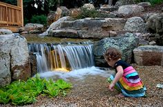 Playing in a Pondless Waterfall