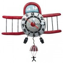 Designer Pendulum Wall Clock- Plane - Available now on Becky & Lolo